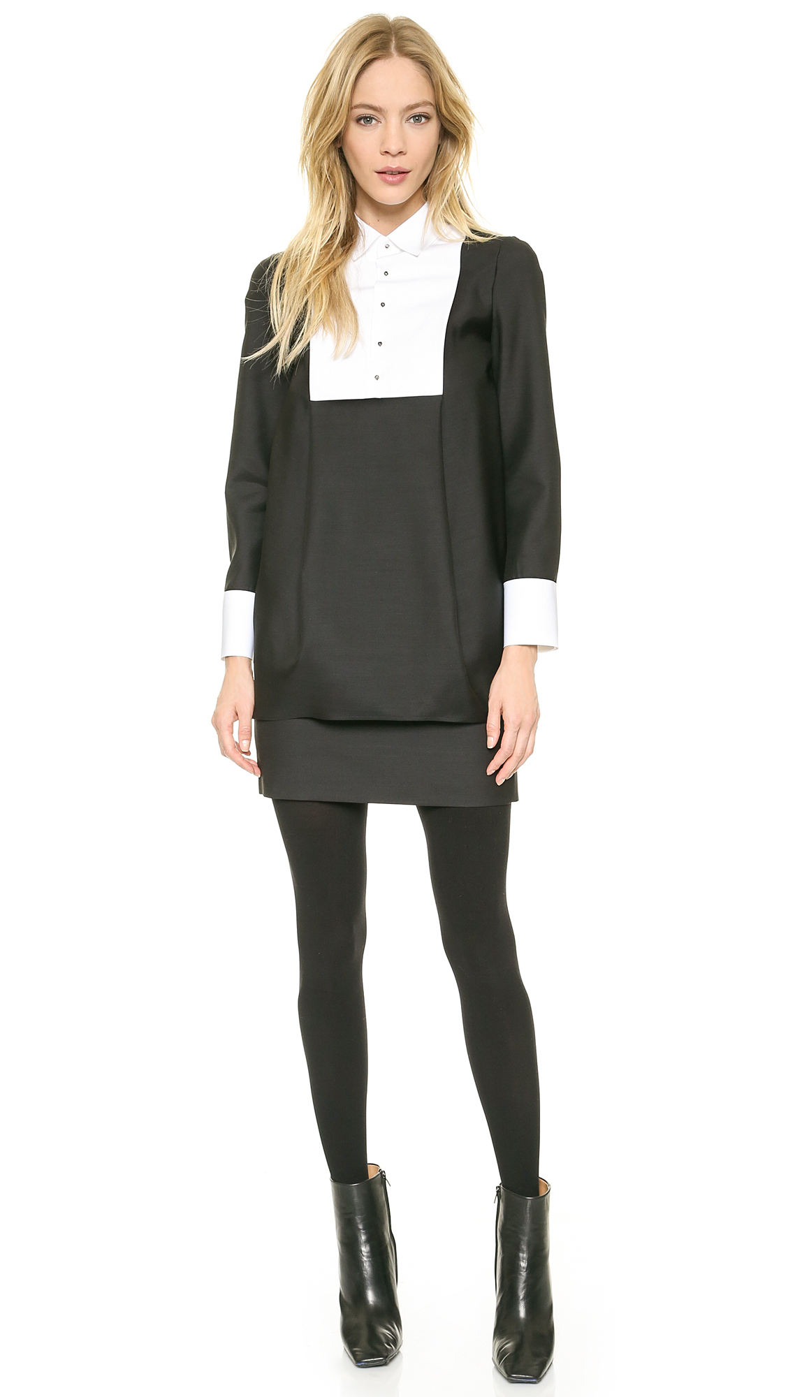 Lyst Dsquared Michele Skirt Suit Black In Black