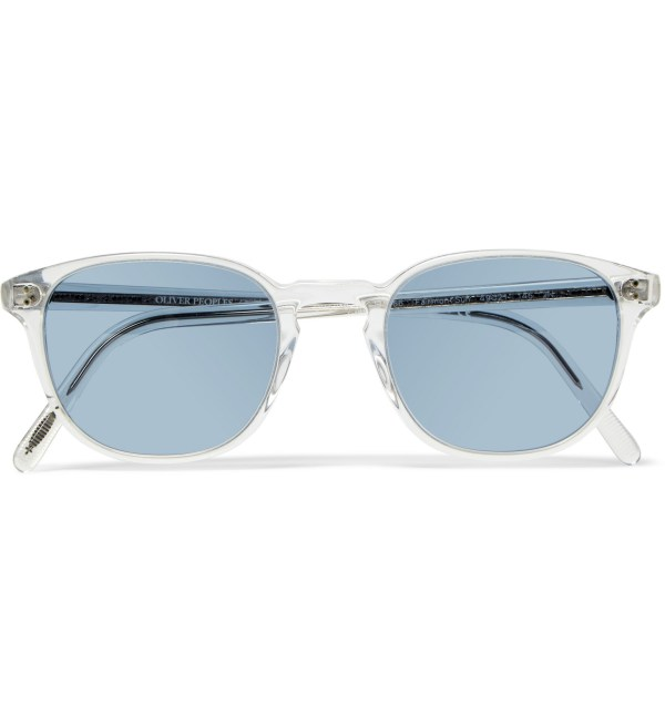 Lyst - Oliver peoples Fairmont Round-frame Acetate ...