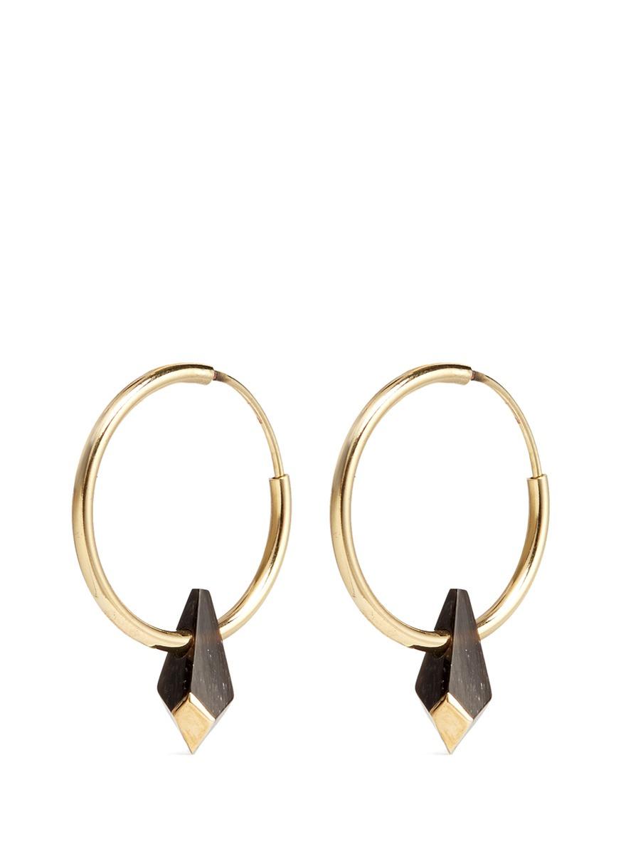 Lyst Isabel Marant Buffalo Horn Teardrop Hoop Earrings