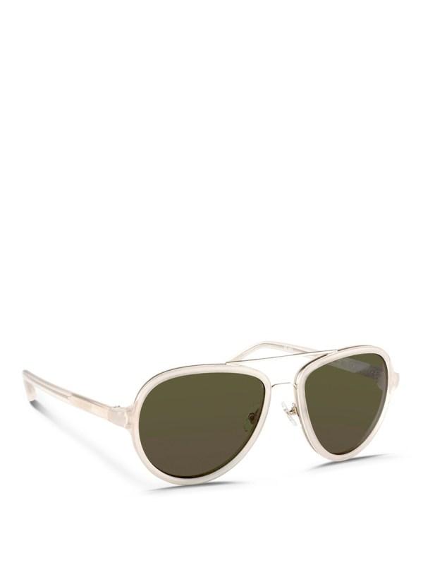 3.1 Phillip Lim Titanium Rim Acetate Aviator Sunglasses in ...
