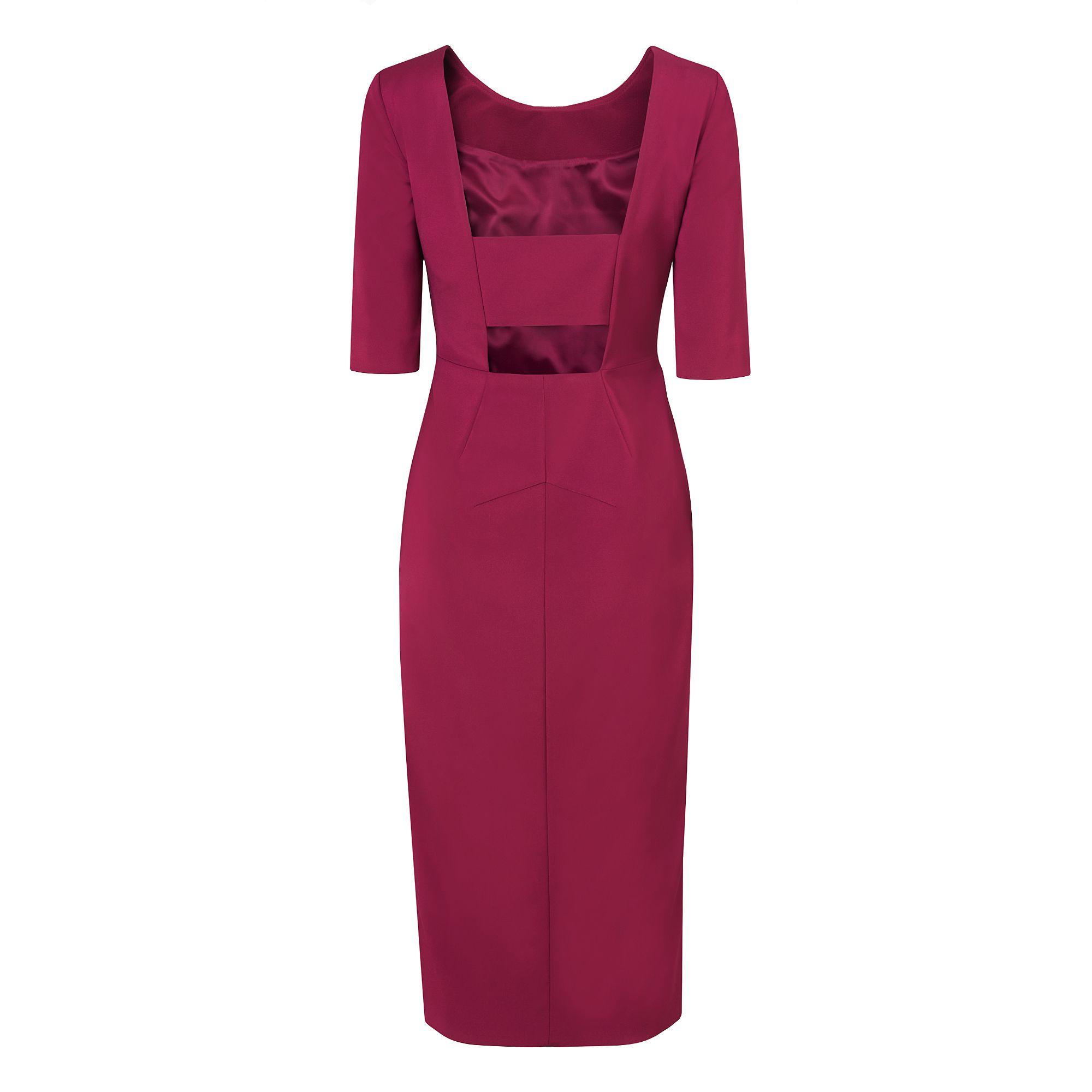 Lkbennett Calia Fitted Dress In Red Lyst