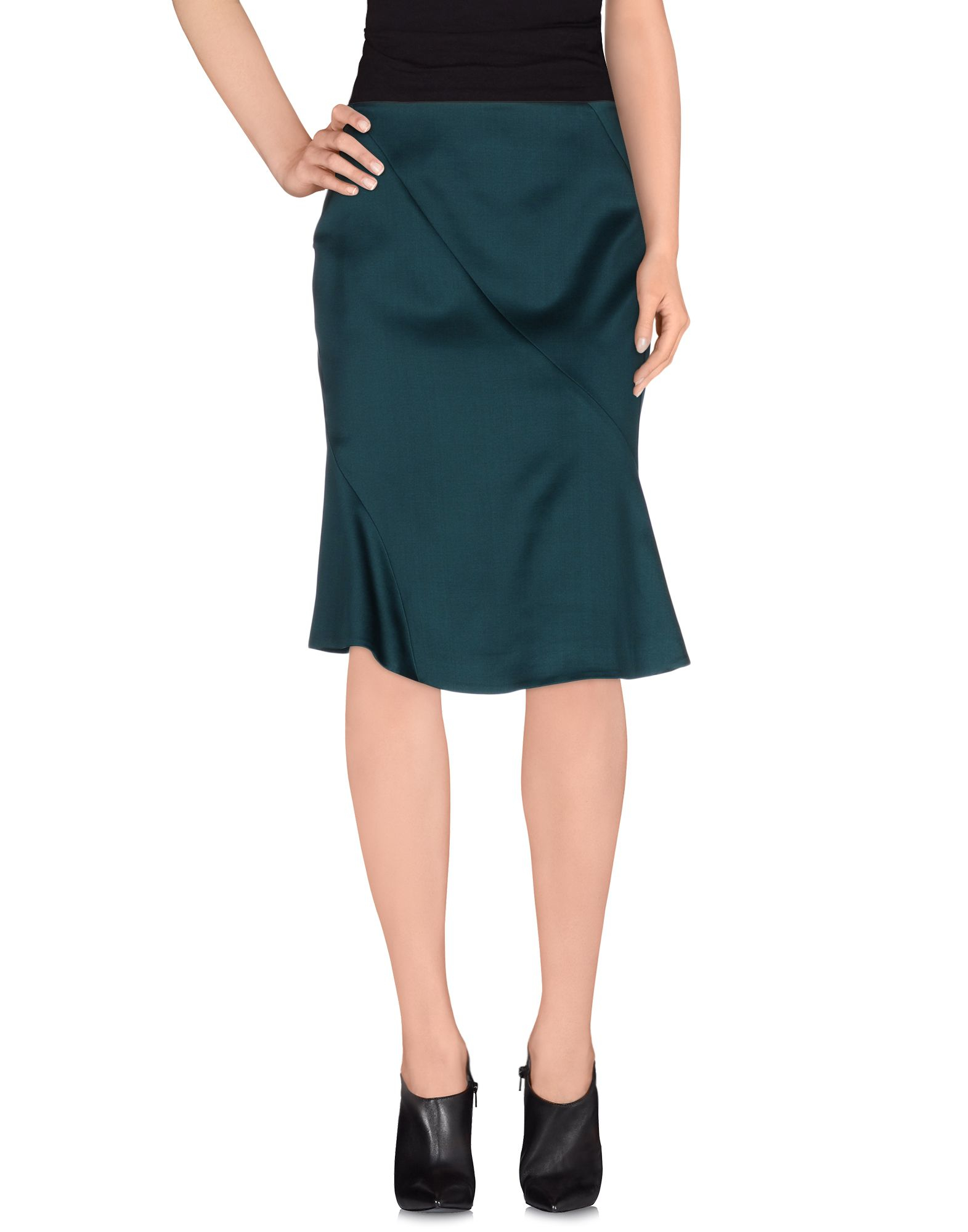 Jil Sander Knee Length Skirt In Green Lyst