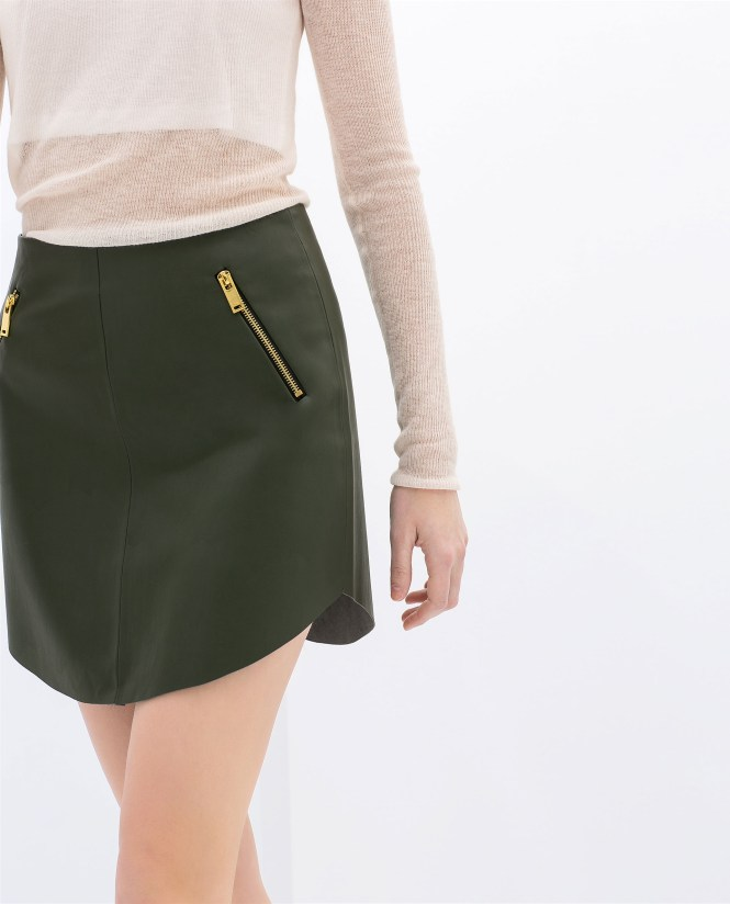 Quilted Leather Skirt Zara - Quilting