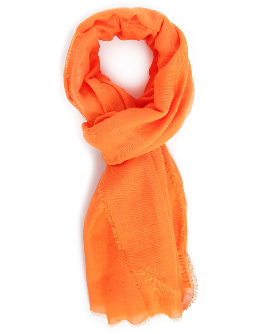 Lacoste Orange Scarf In Orange For Men Lyst