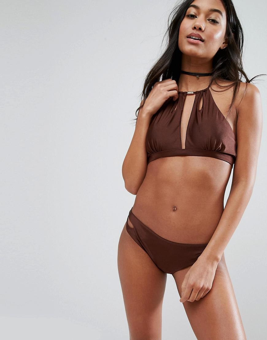 Lyst South Beach Chocolate Bikini Bottom In Brown