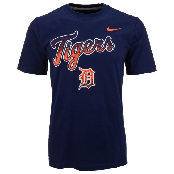 Nike Mens Detroit Tigers Mezzo Core Wordmark Tshirt in ...