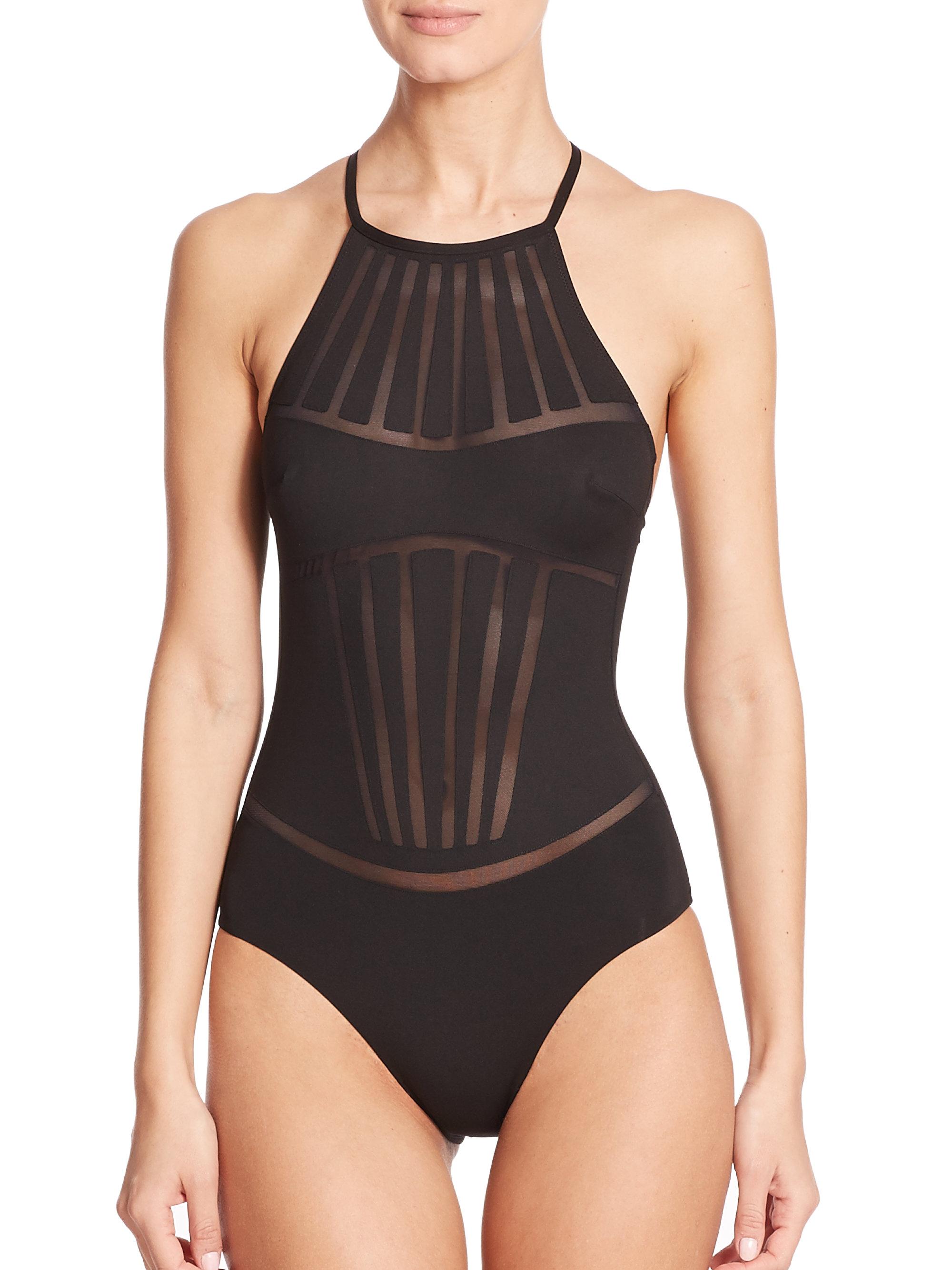 La Perla One Piece Dunes Swimsuit In Black Lyst