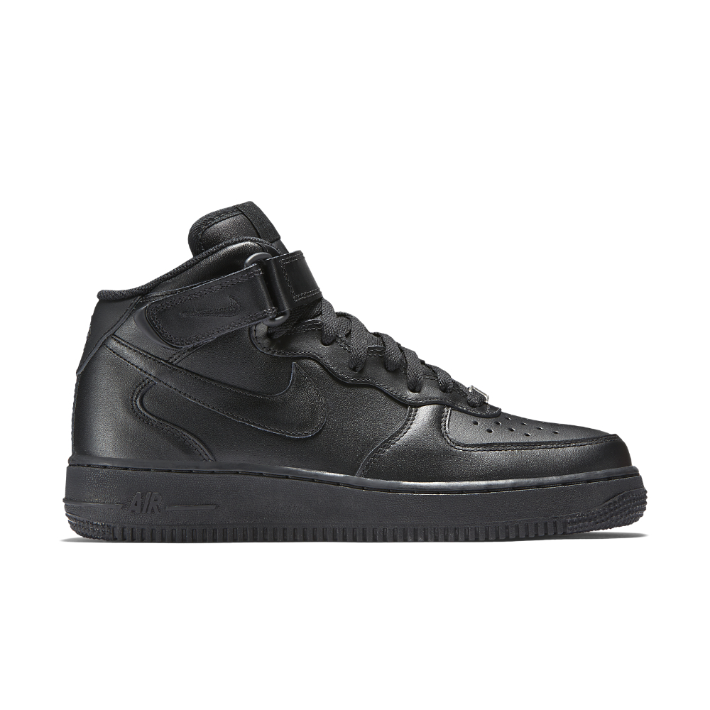 Nike Air Force 1 Mid 07 Leather Womens Shoe In Black Lyst