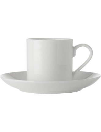 Maxwell & Williams White Basics New Straight Demi Cup & Saucer
