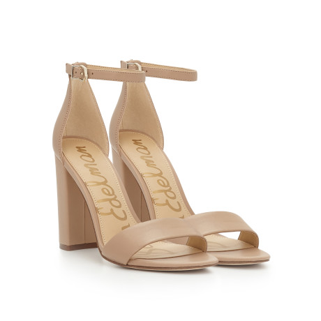 Yaro Ankle Strap Sandal by Sam Edelman - Classic Nude Leather - View 1