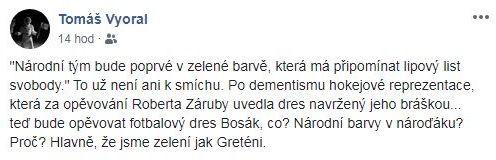 Vyoral o nových zelených dresech českého národního týmu
