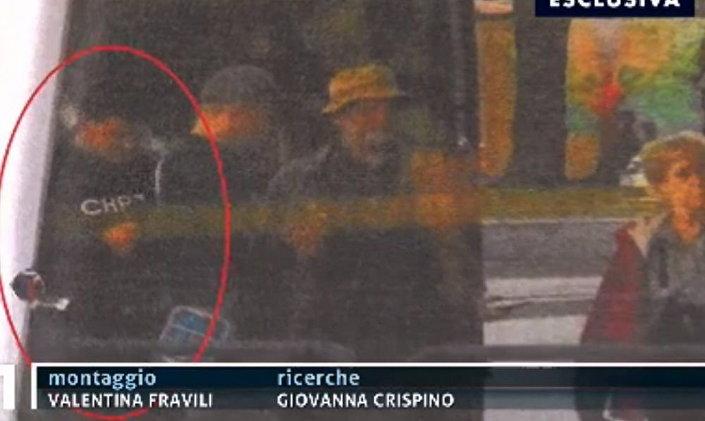 Záběr z italské reportáže o Jánovi Kuciakovi