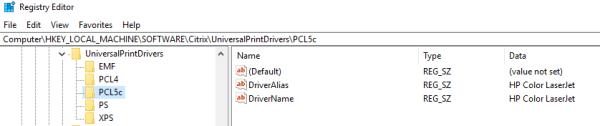 Universal Print Driver - PCL5 not working - XenDesktop 7.x ...