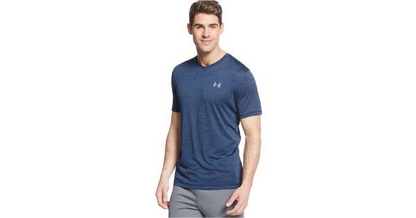 Under armour Men's V-neck Tech T-shirt in Blue for Men ...