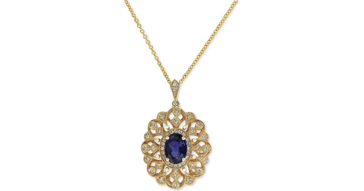 Effy Diamond Blue Cross