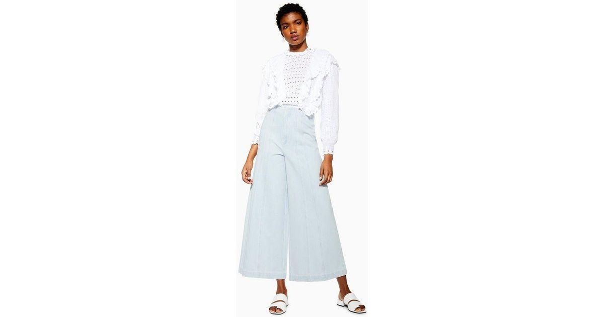 Wide Leg Culotte Jeans