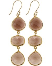 Marcia Moran Agate Threedrop Earrings Smoke Lyst