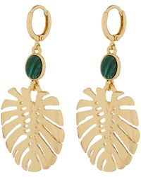 Palm Leaf Short Drop Earrings