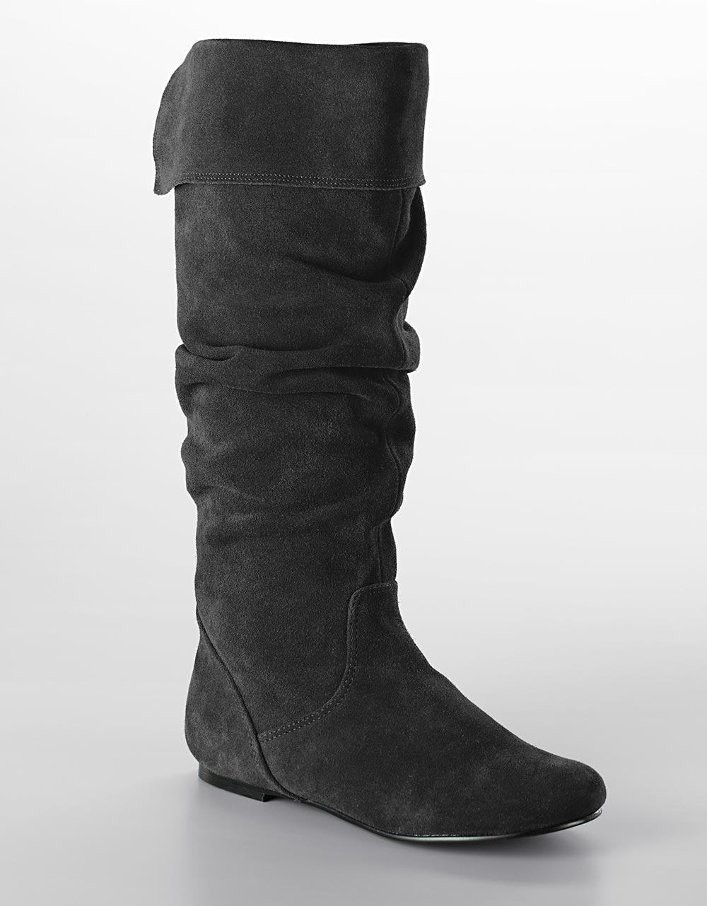 Tall Flat Leather Boots