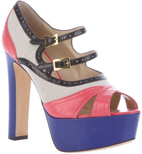 Moschino Cheap & Chic Colourblock Sandal in Multicolor (multi)