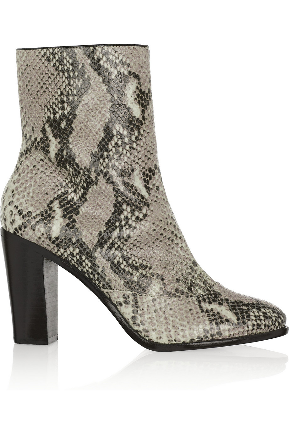 And Snakeskin Ankle Leather Boots