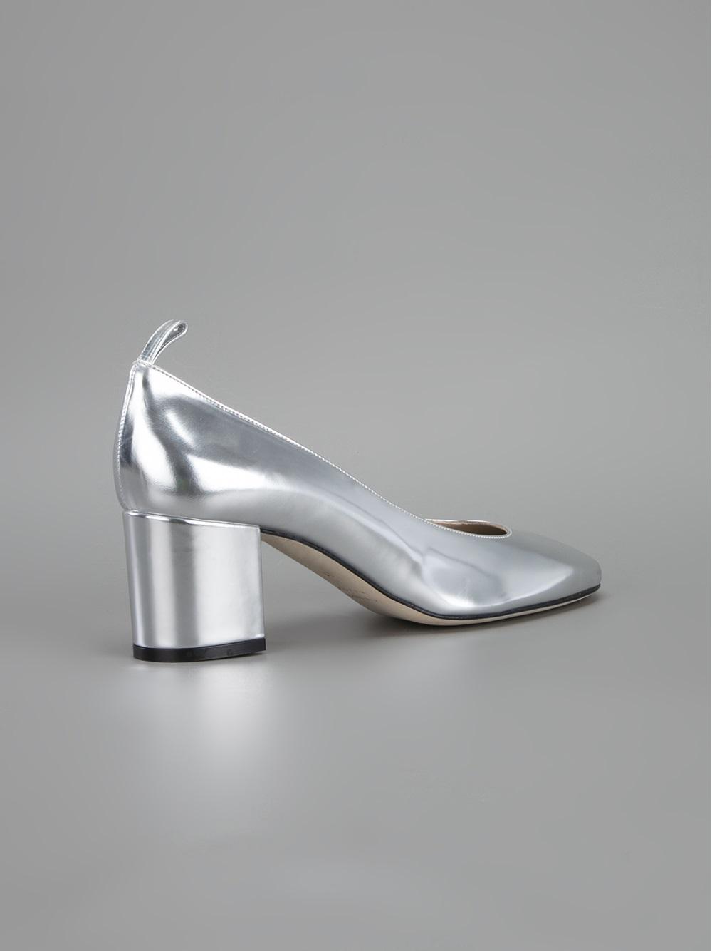 Silver Block Heel Shoes Is Heel
