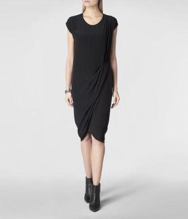 Allsaints Anson Nui Dress in Black - Lyst