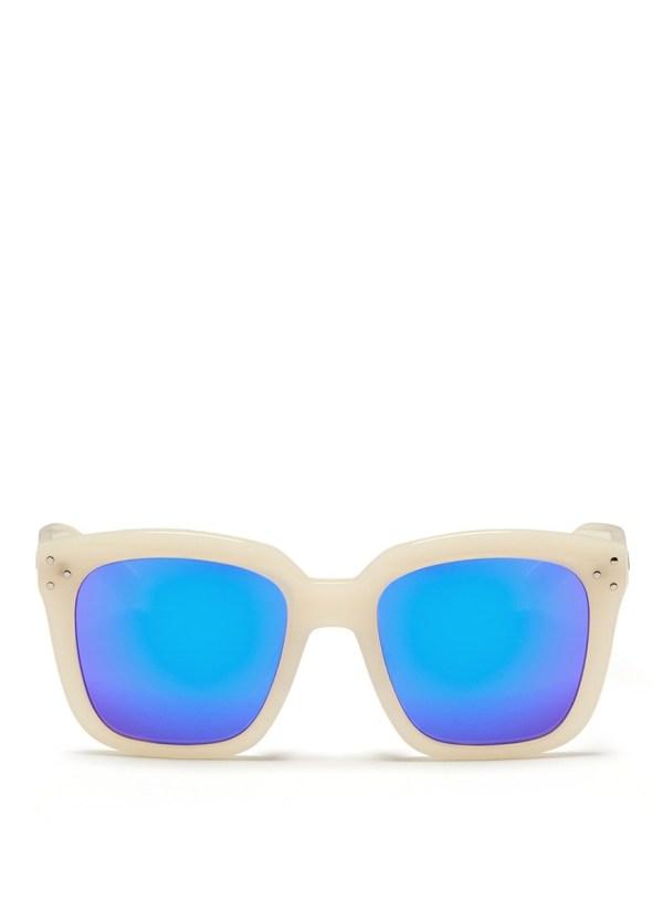 Spektre 'romano' Oversize Acetate Mirror Sunglasses in ...