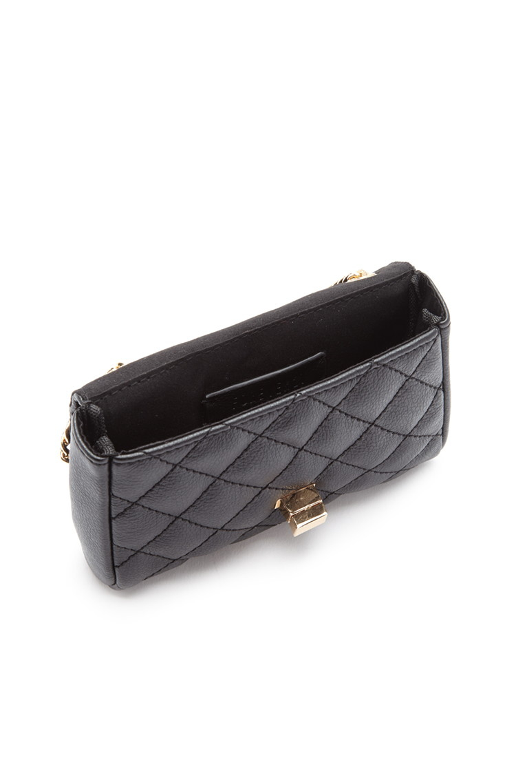 Lyst Forever 21 Quilted Mini Crossbody In Black
