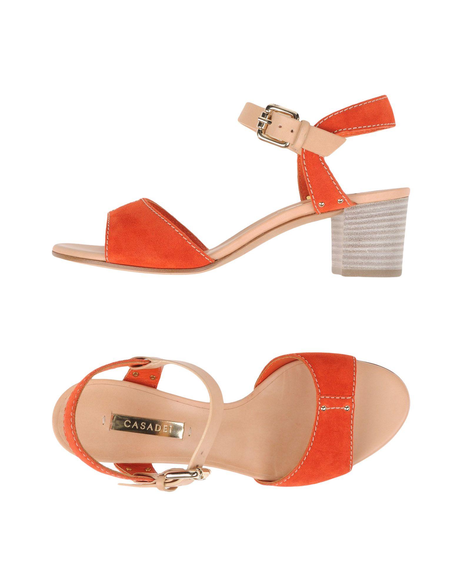 Lyst Casadei Sandals In Orange