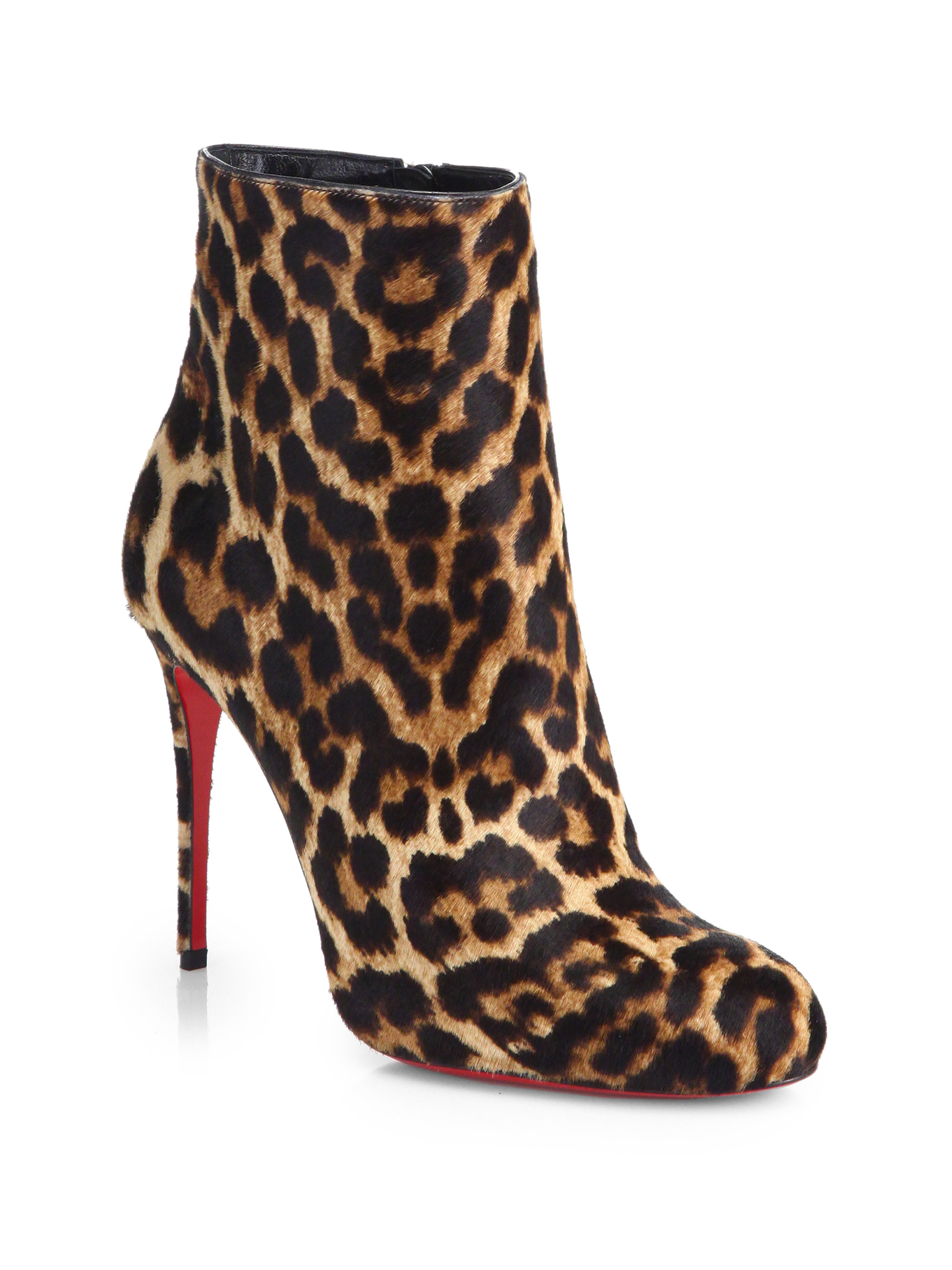 Lyst Christian Louboutin Fifi Leopard Print Calf Hair Boots