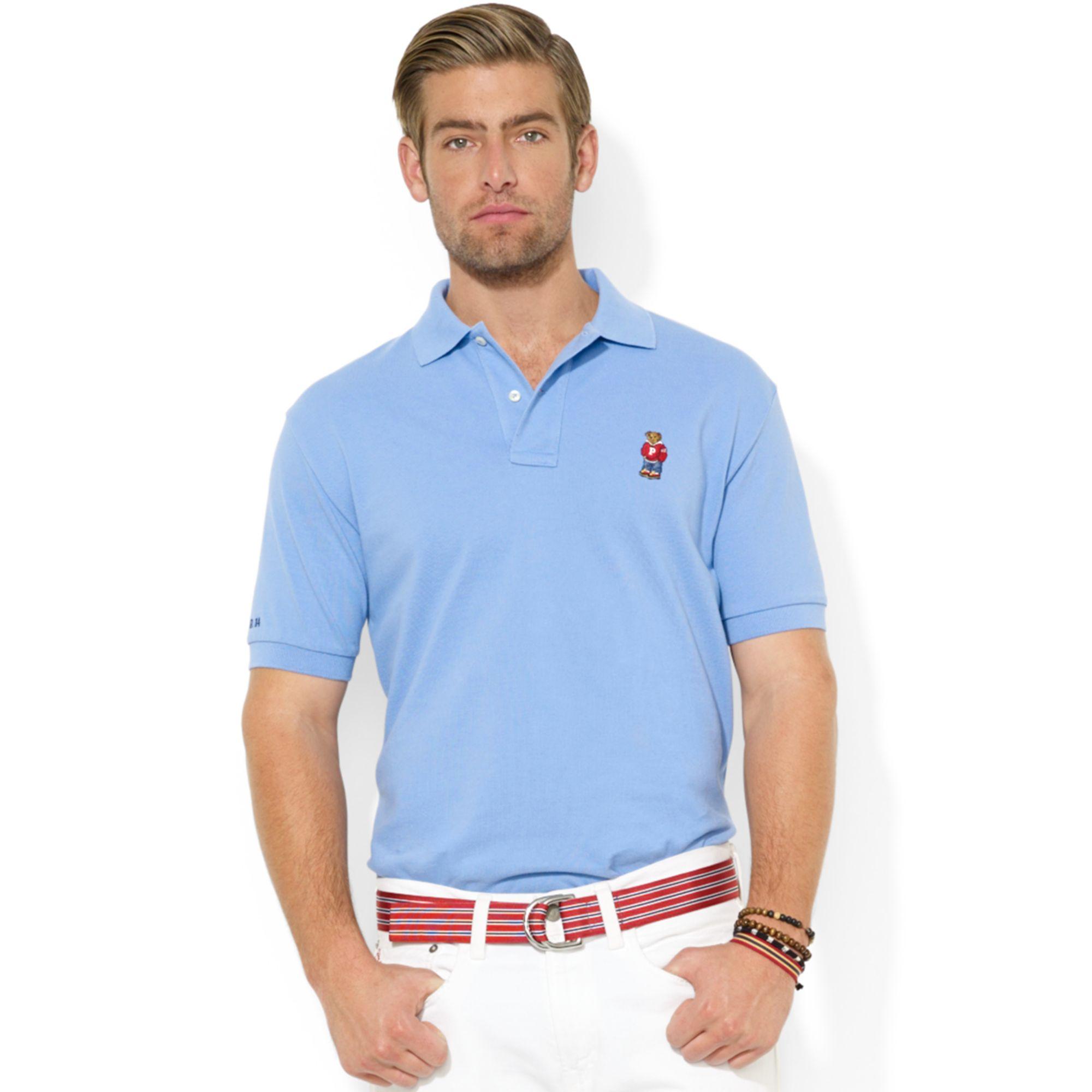 740164214 Lyst Polo Ralph Lauren Bear Logo Print T Shirt In Gray For Men ...