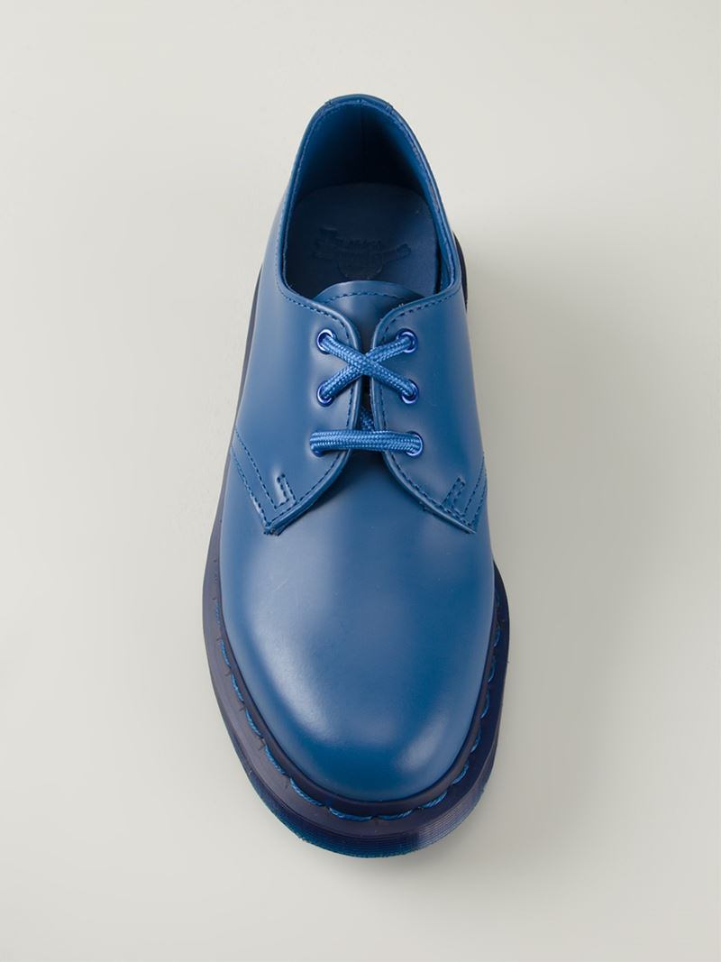 Dr Martens 1461 Lace Up Shoes In Blue Lyst