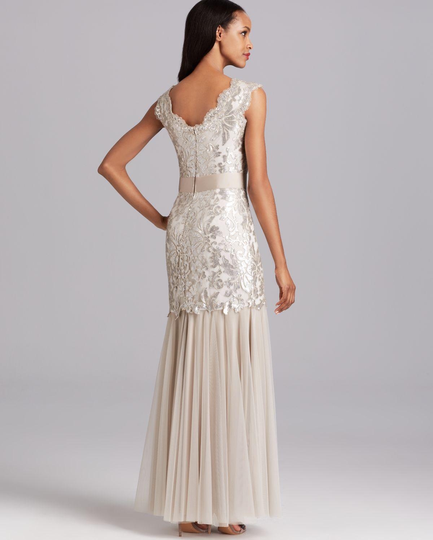 Old Fashioned Tadashi Shoji Sequin Lace Gown Image - Top Wedding ...