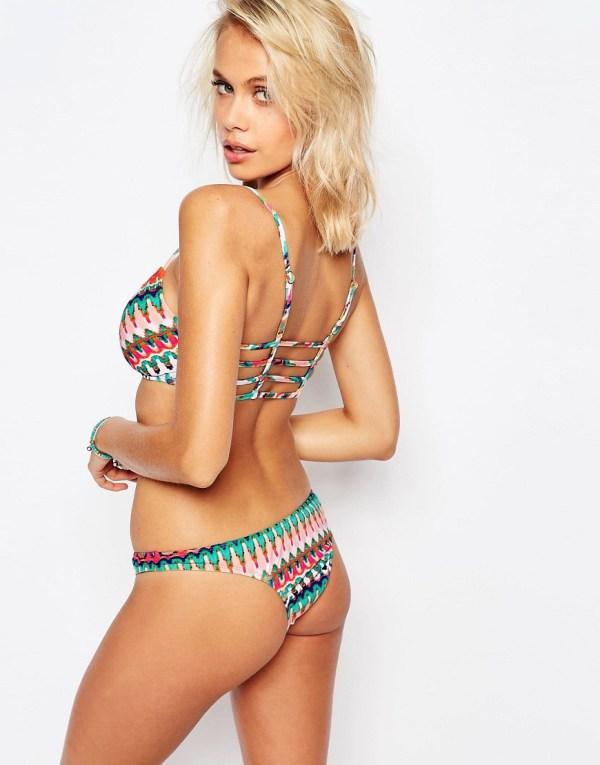 Bikini lab Ikat Print Bralette Bikini Top in Blue | Lyst