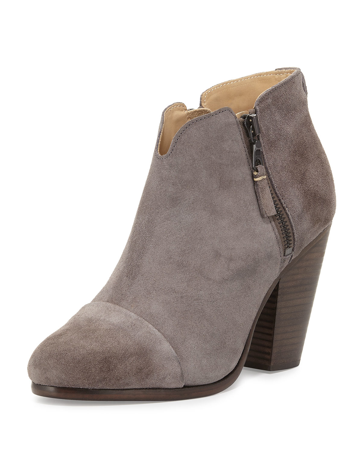 Rag Amp Bone Margot Suede Ankle Boots In Gray Lyst