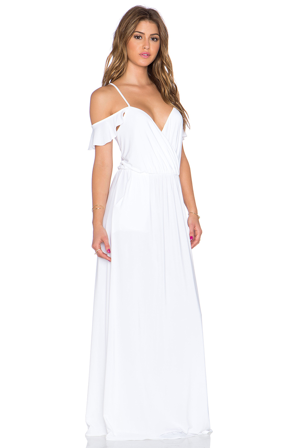 Lyst T Bags Cold Shoulder Maxi Dress In White