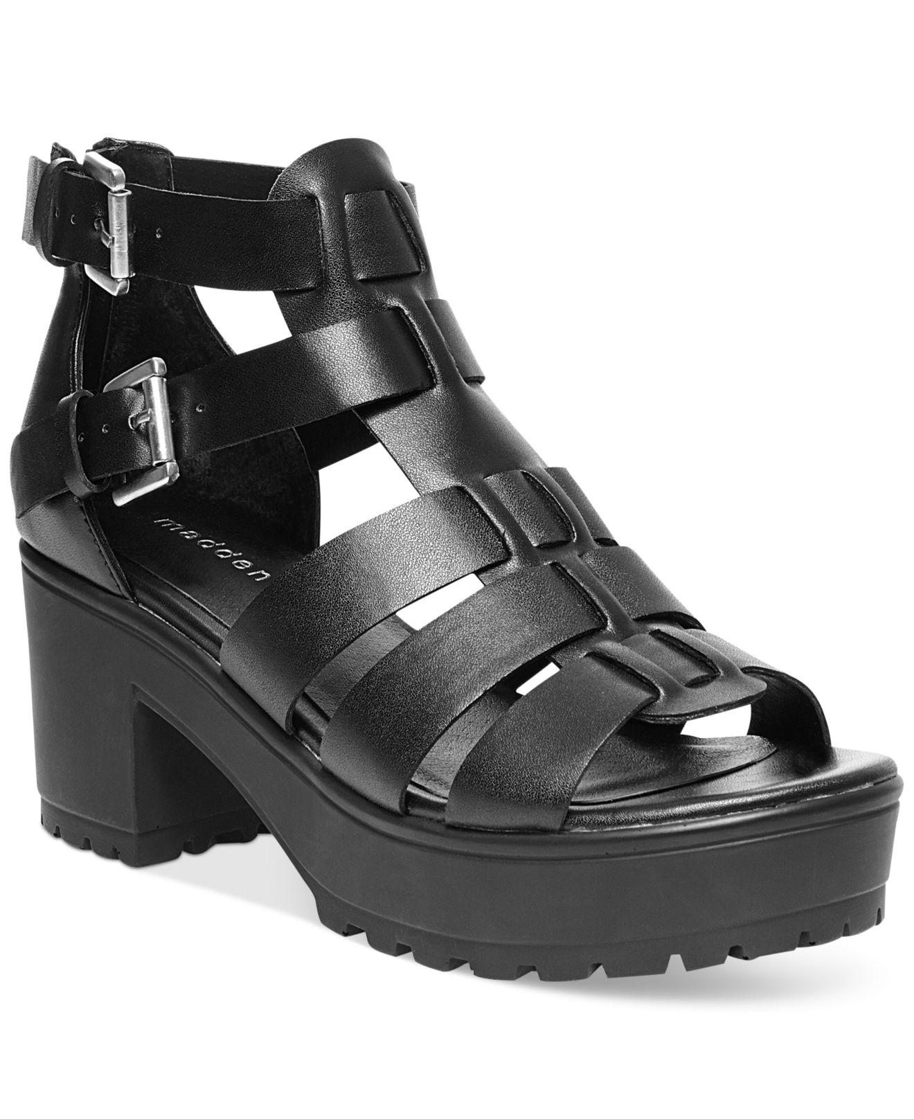 Madden Girl Daizyy Platform Lug Sandals In Black Lyst