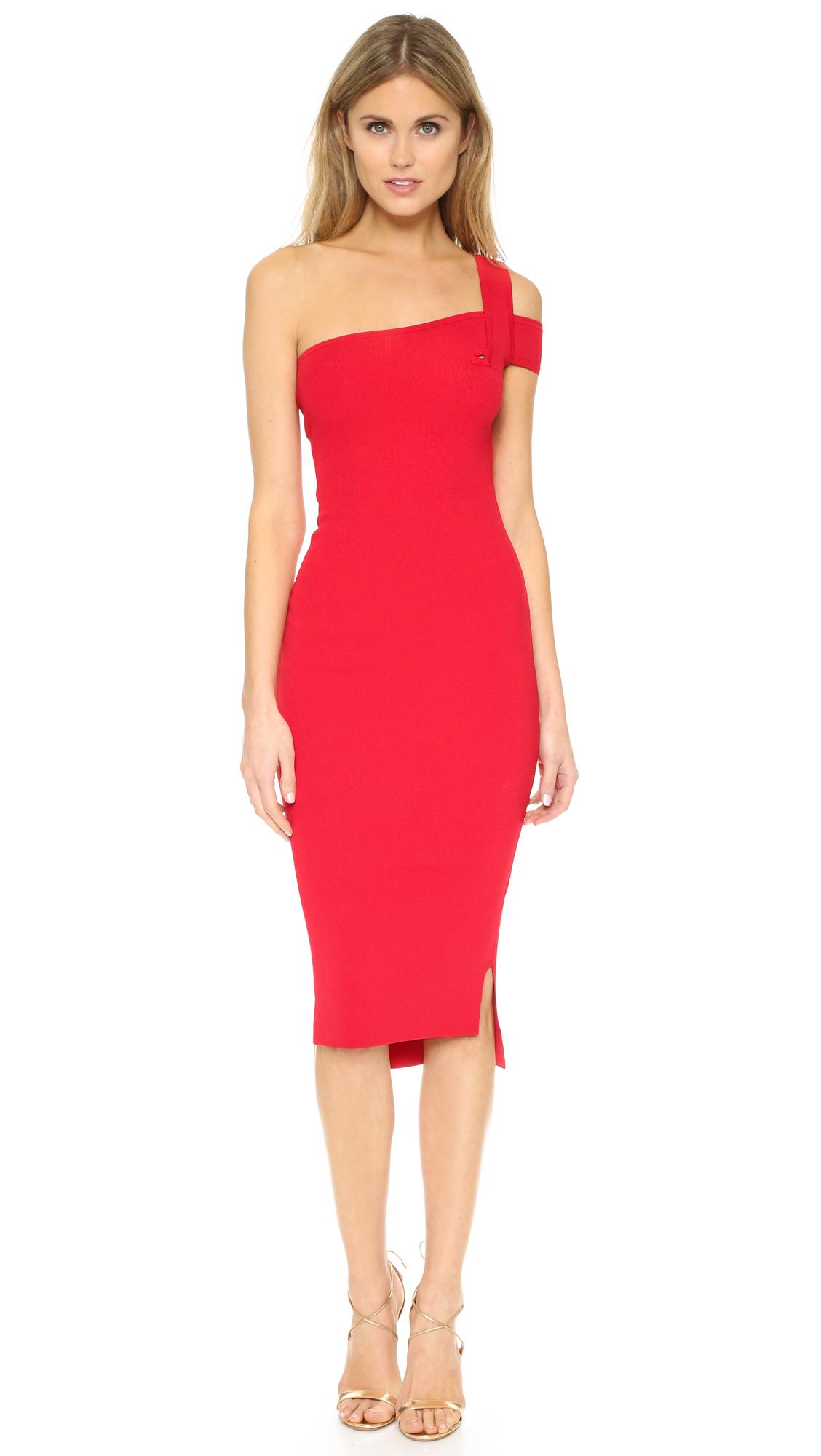 One Shoulder Red Dress Other Dresses Dressesss
