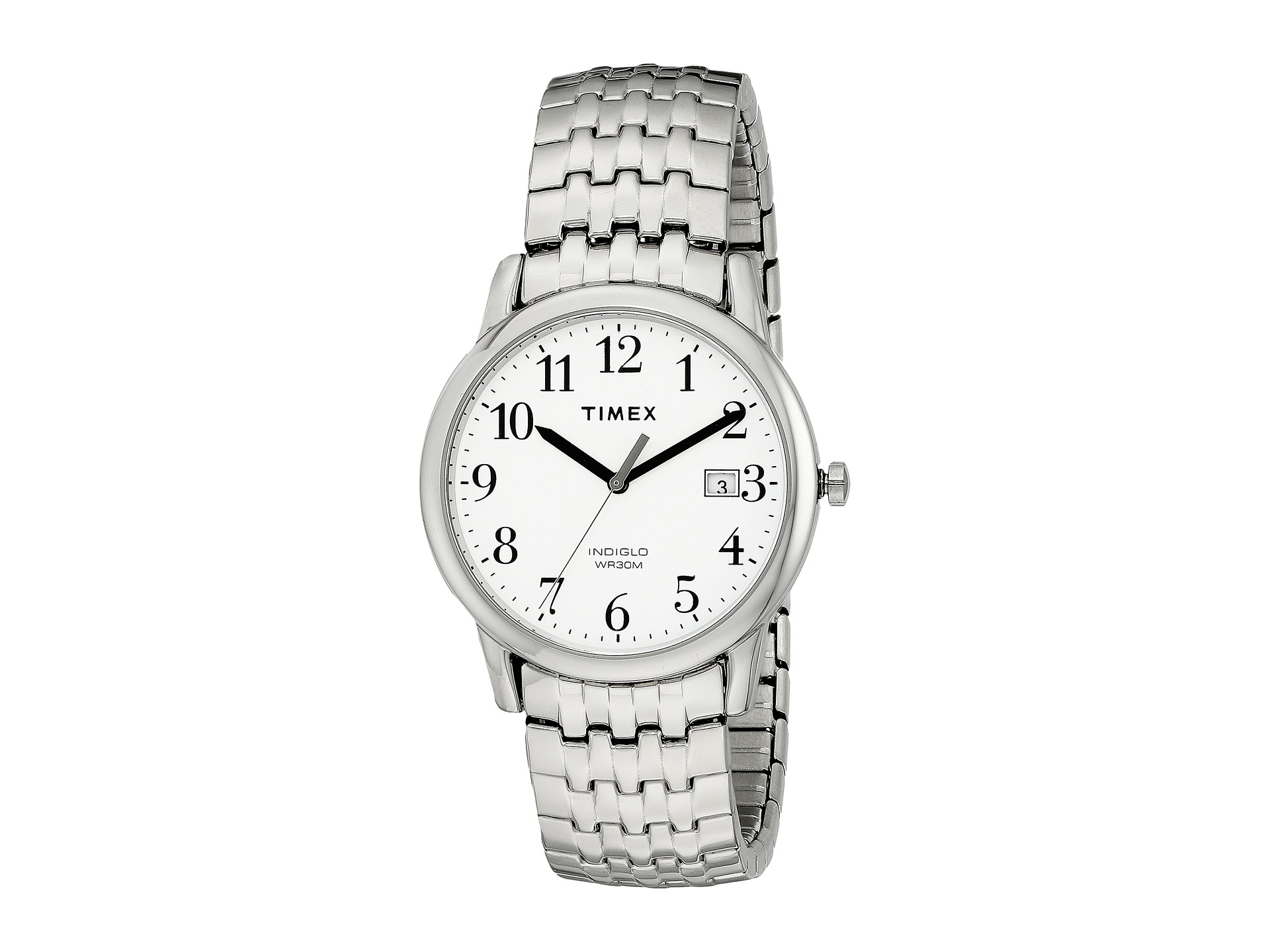 097e5471b Timex Easy Reader Expansion Band Dress Watch In Metallic