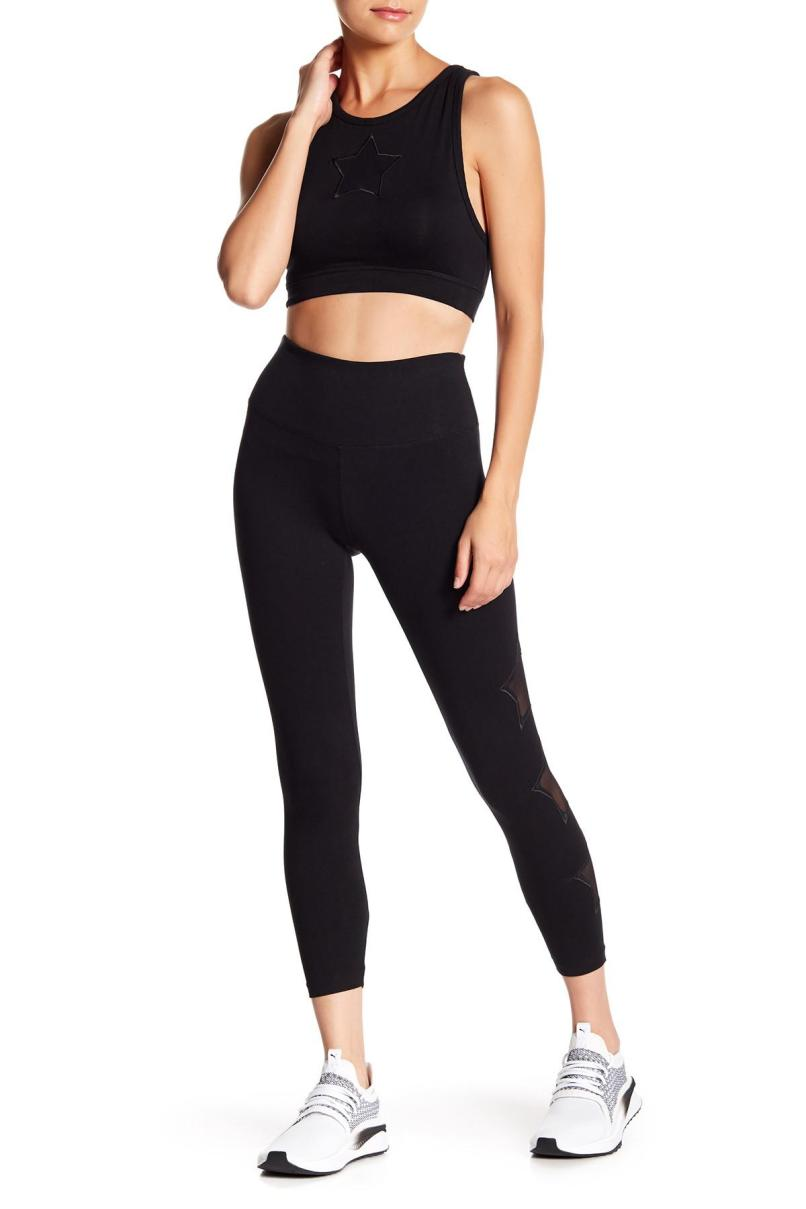 818ca2c67125c Lyst C California Bolt Yoga Pants In Black