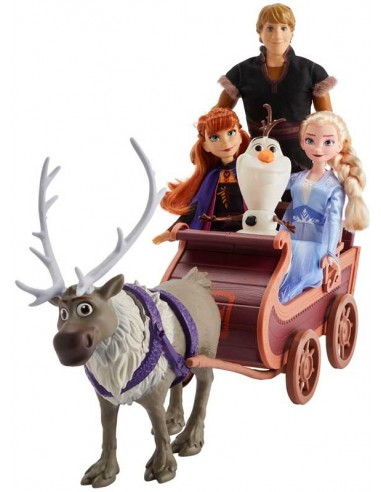 Frozen 2 Adventure In The Sleigh With 5 Characters Hasbro Futur