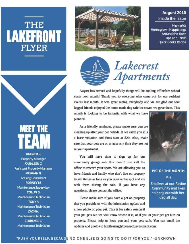The Lakecrest Apartments Community