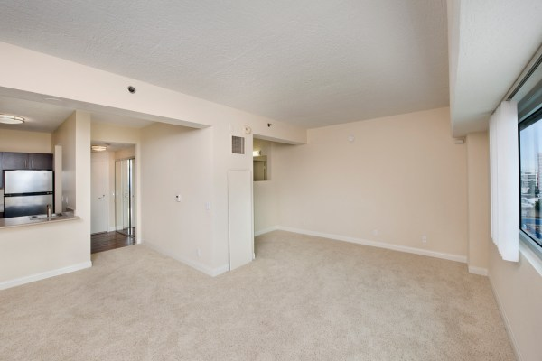Open Concept Floor Plan At Renaissance Tower Los Angeles 90015