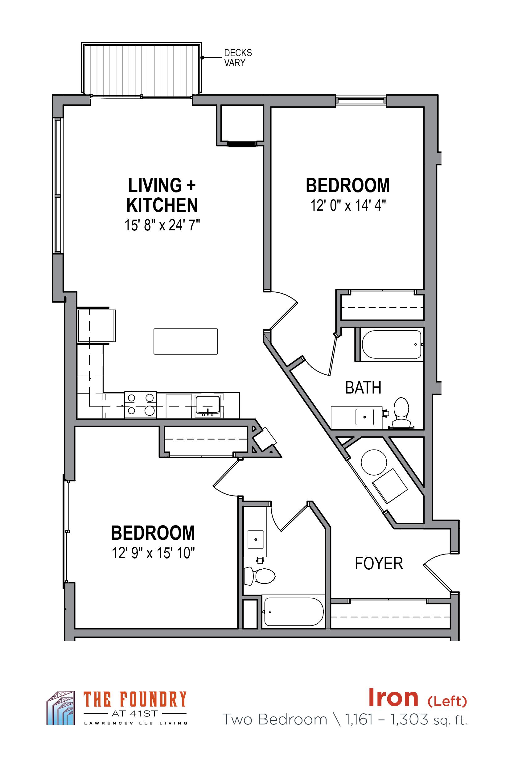 Studio 1 Amp 2 Bedroom Apartments