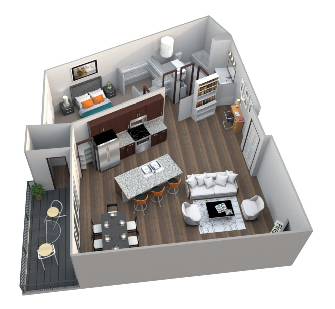 Studio One Two Three Bedroom Apartments 360 At