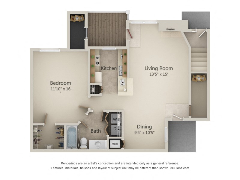 Floor Plans of Sunlake Apartments in Fishers  IN 2          Floor Plan1A Sunrise