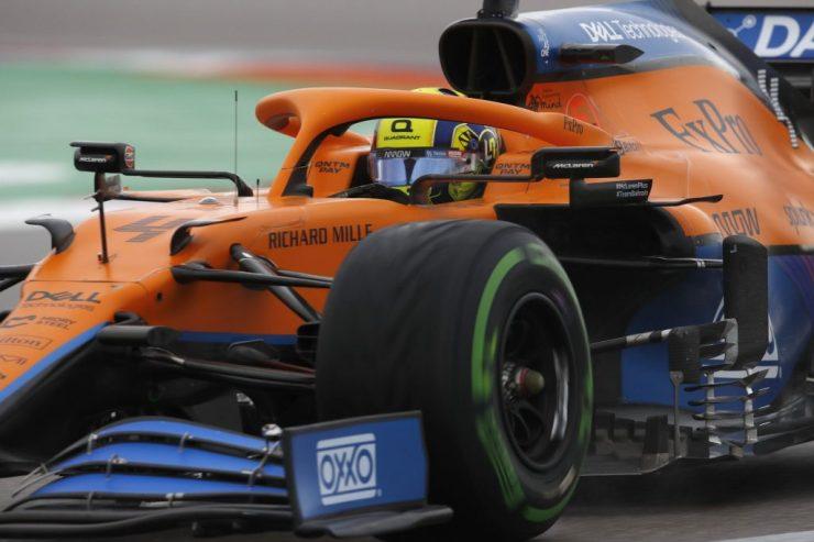 Lando Norris, McLaren, GP da Rússia 2021, pneus intermediários