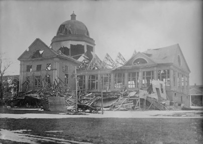 The remains of the Halifax Exhibition Building