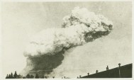 Following the explosion, a thick cloud of white smoke billowed over the city.